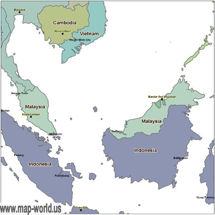 Malaysia On World Map Map: Map Of Malaysia - Malaysia Map