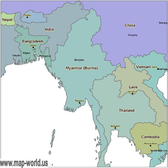 Map of Burma MAYENMAR Mayenmar Map World Map