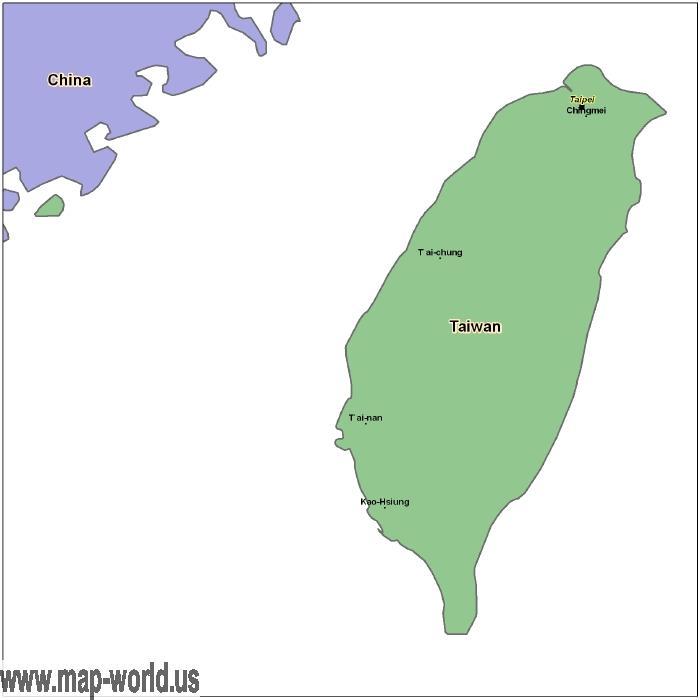 Map of Taiwan Taiwan Map World Map